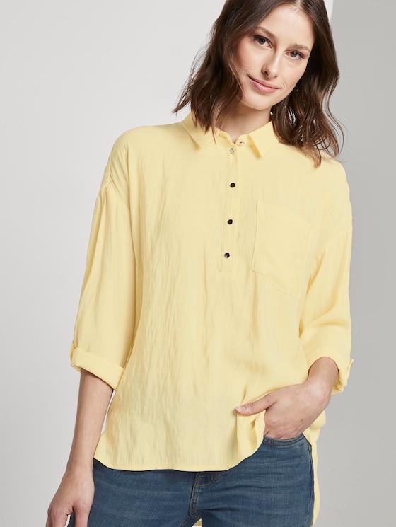 Fließendes Oversized-Hemd - Frauen - pale yellow - 5 - TOM TAILOR Denim