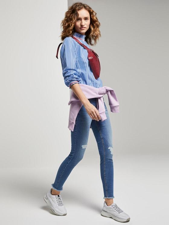 Jona Extra Skinny Jeans - Vrouwen - Destroyed Mid Stone Blue Denim - 3 - TOM TAILOR Denim