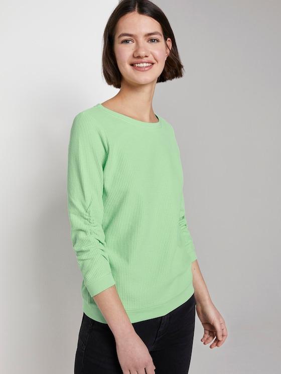 sweater met textuur - Vrouwen - soft neo green - 5 - TOM TAILOR Denim