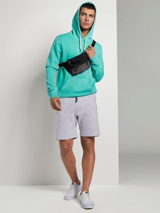 Sweatshorts mit Kordelbund - Männer - Light Stone Grey Melange - 3 - TOM TAILOR Denim