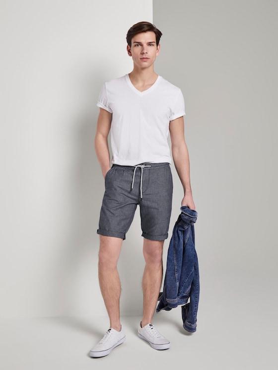 Chino Shorts - Männer - Blue Fil A Fil - 3 - TOM TAILOR Denim