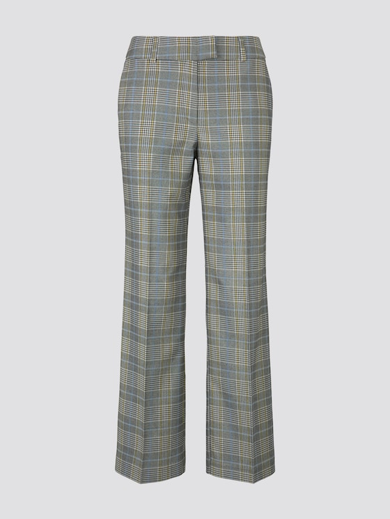 Lea Straight with pleat - Women - black white check - 7 - TOM TAILOR