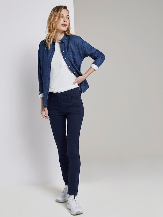 Alexa Slim Broek - Vrouwen - Sky Captain Blue - 3 - TOM TAILOR