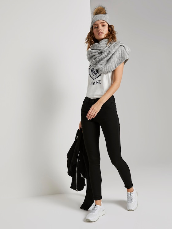 Nela Extra Skinny Jeans mit TENCEL™ Modal - Frauen - black denim - 3 - TOM TAILOR Denim