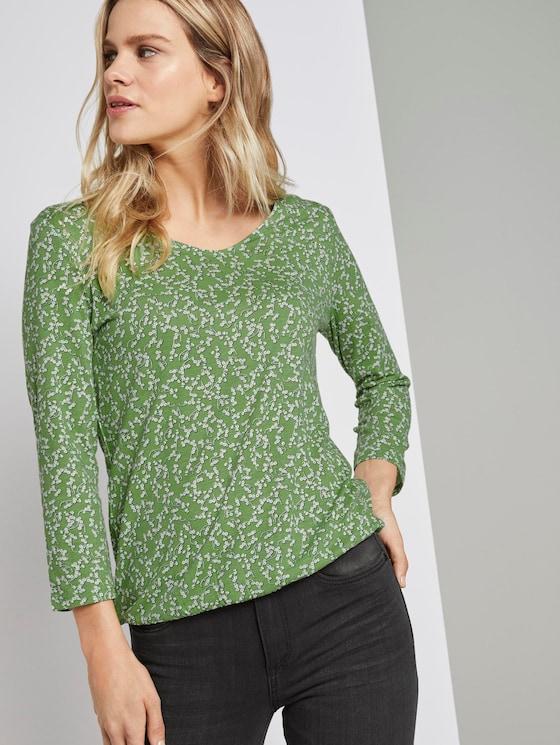 Blusenshirt mit Print - Frauen - green flowery design - 5 - TOM TAILOR