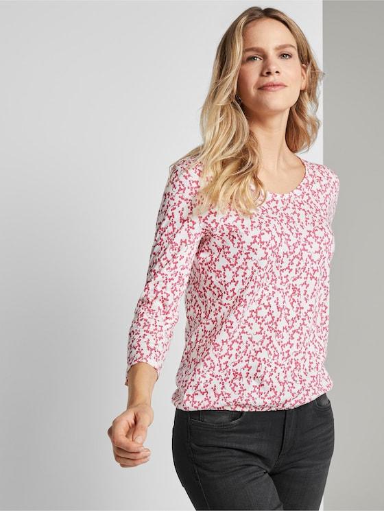 Blusenshirt mit Print - Frauen - pink flowery design - 5 - TOM TAILOR