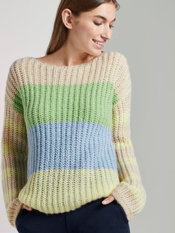 Sweater im Color-Block-Design - Frauen - vanilla melange - 5 - TOM TAILOR