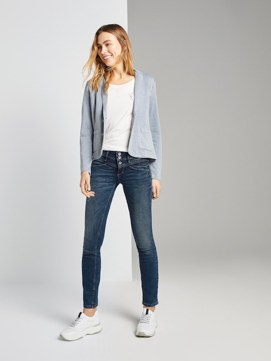 Alexa Slim Jeans - Frauen - random bleached  blue denim - 3 - TOM TAILOR