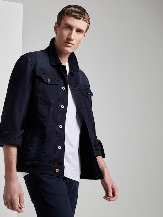 Denim jacket with chest pockets - Men - blue black denim - 5 - TOM TAILOR Denim