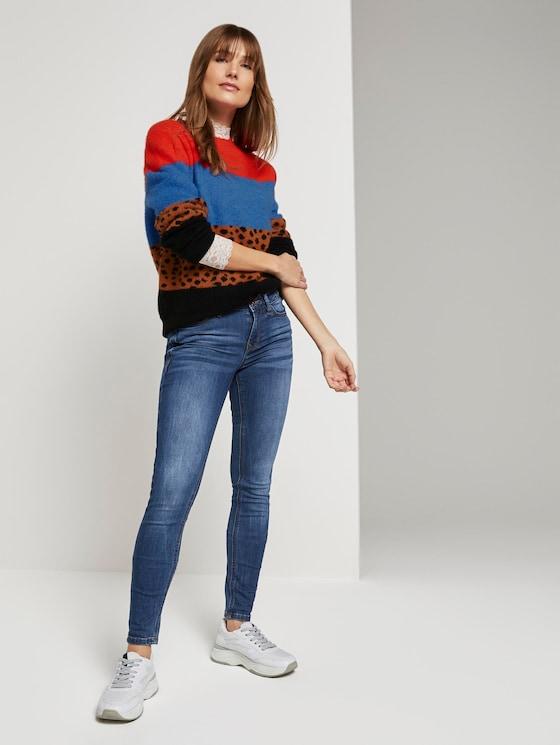 Jona Extra Skinny Jeans mit recyceltem Polyester - Frauen - Clean Mid Stone Blue Denim - 3 - TOM TAILOR Denim