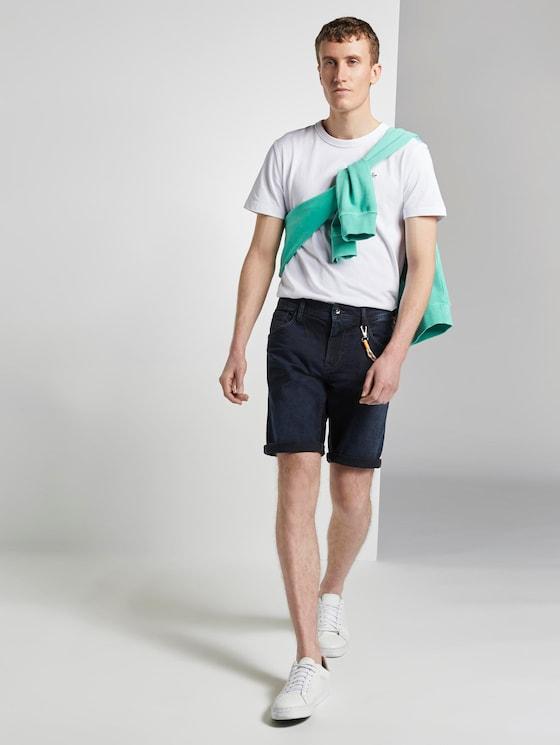 Jeans-Shorts mit Kordelanhänger - Männer - blue black denim - 3 - TOM TAILOR Denim