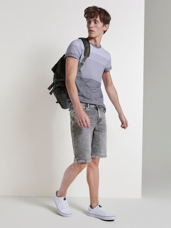 Loose Fit Jeansshort in 90er Waschung - Männer - used light stone grey denim - 3 - TOM TAILOR Denim