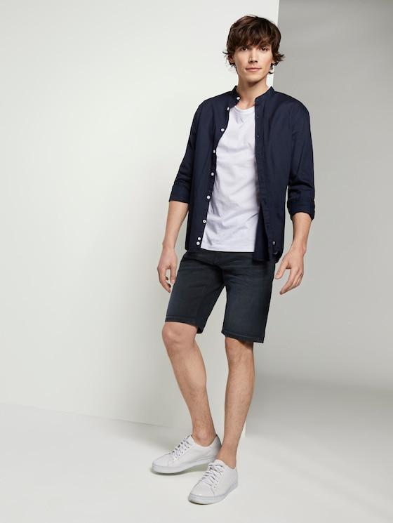 Regular Jeansshorts in dunkler Waschung - Männer - blue black denim - 3 - TOM TAILOR Denim