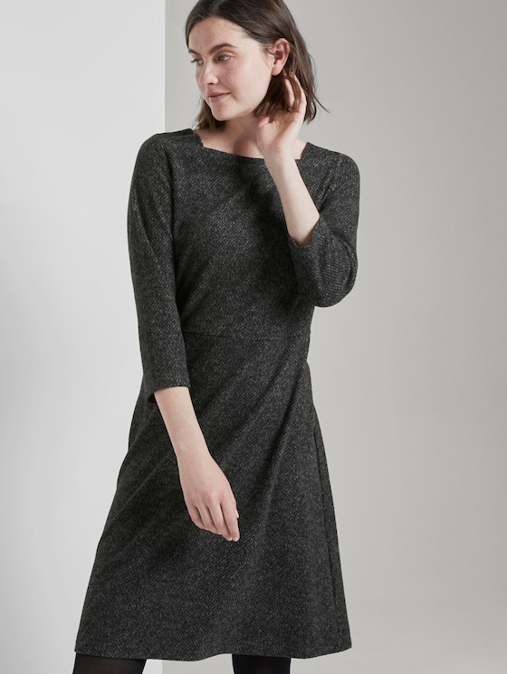 Jurk - Vrouwen - grey black structure - 5 - TOM TAILOR