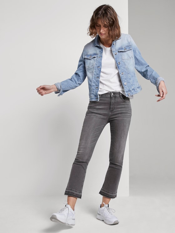 Kate kick flare jeans - Women - grey denim - 3 - TOM TAILOR