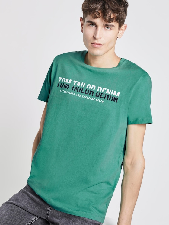 T-Shirt mit Print - Männer - spearmint green - 5 - TOM TAILOR Denim