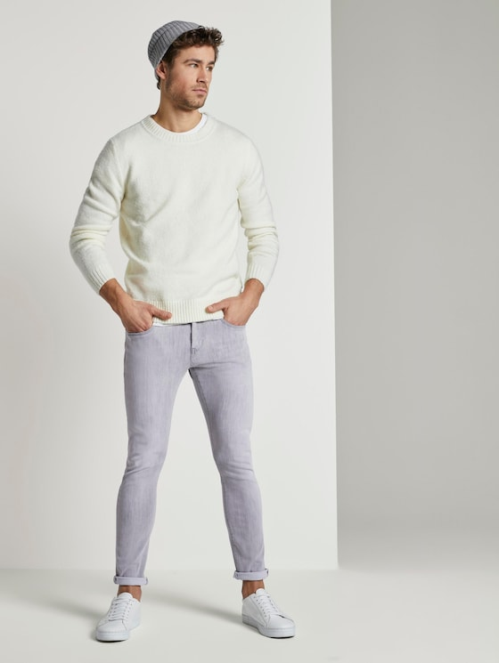 Troy Slim Tech Denim - Männer - used light stone grey denim - 3 - TOM TAILOR