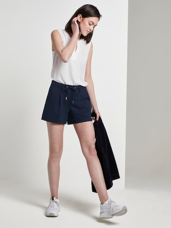 Ponte Shorts im Relaxed Fit - Frauen - Real Navy Blue - 3 - TOM TAILOR Denim