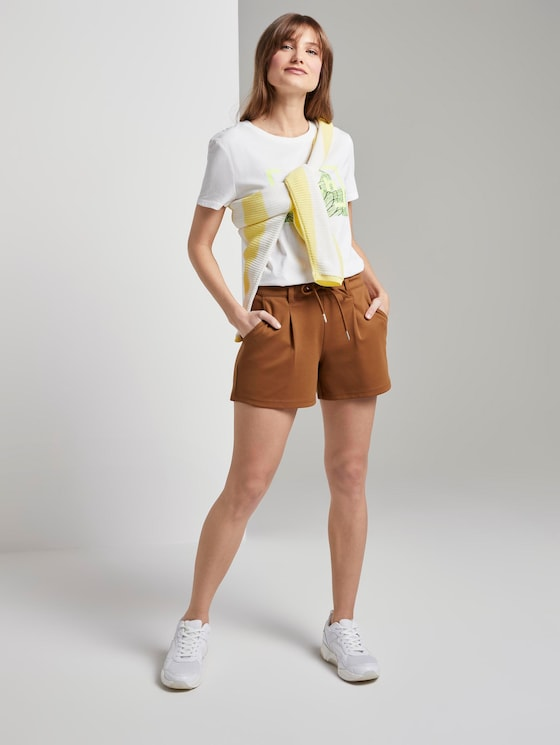 Ponte Shorts im Relaxed Fit - Frauen - mango brown - 3 - TOM TAILOR Denim