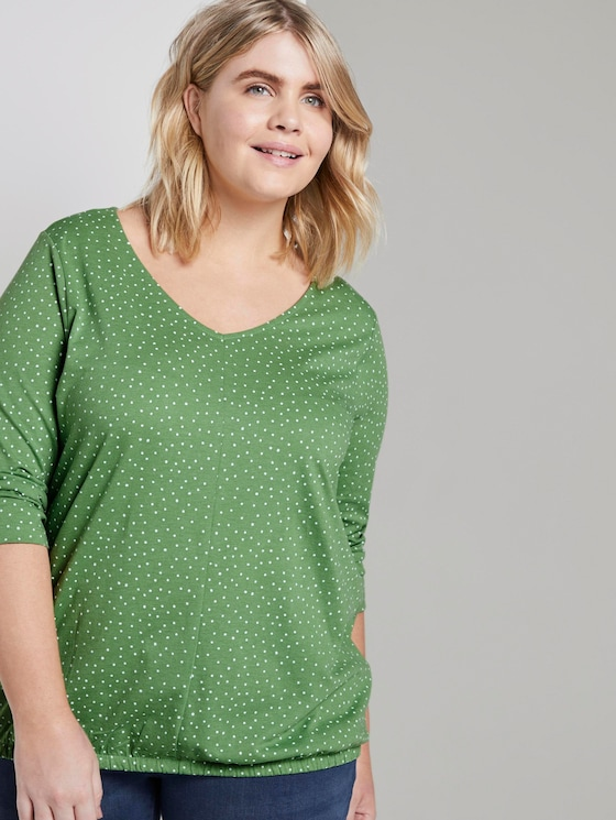 Printed shirt with sleeves - Women - green dot print - 5 - My True Me