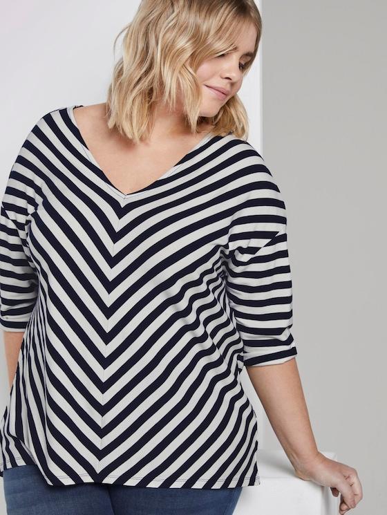Lockeres Shirt mit Streifenmuster - Frauen - navy stripe - 5 - My True Me