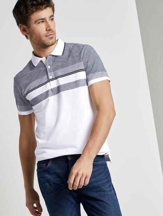 Gestreiftes Poloshirt - Männer - White - 5 - TOM TAILOR