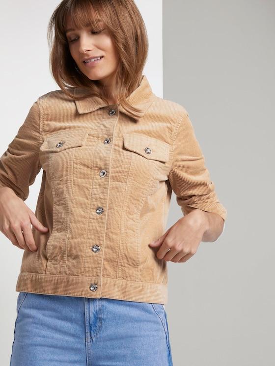 Jacke aus Cord - Frauen - dark sand beige - 5 - TOM TAILOR Denim