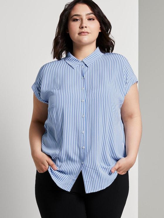 Gestreifte Bluse - Frauen - stripe vertical blue - 5 - My True Me