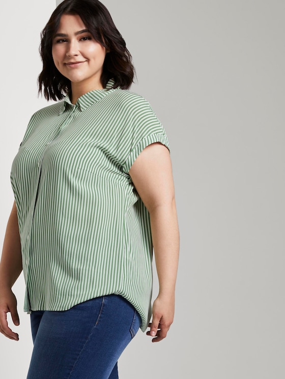 Gestreifte Bluse - Frauen - green offwhite stripes - 5 - My True Me