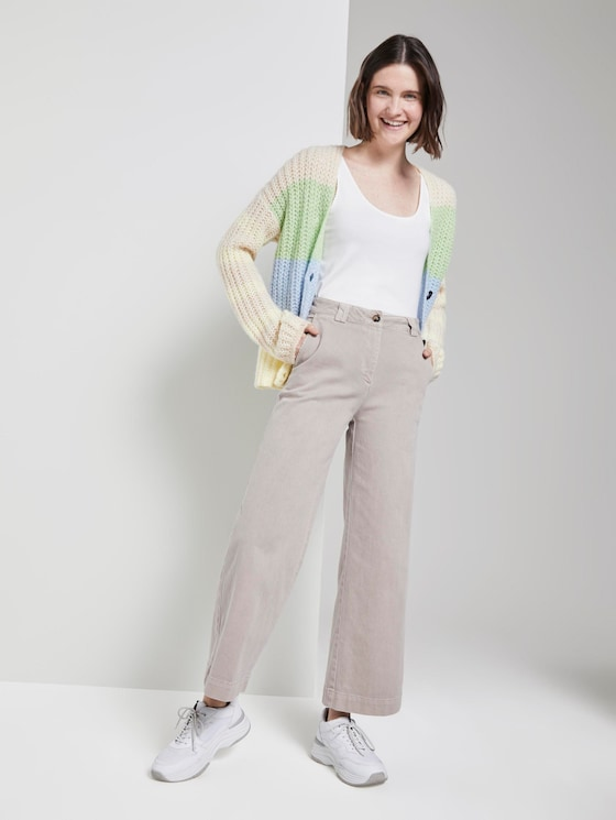 Dyed culotte jeans - Women - Dusty Taupe - 3 - TOM TAILOR