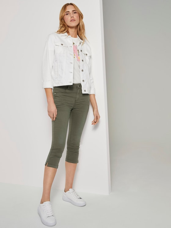 Kate Slim Capri-Jeans - Frauen - Woodland Green - 3 - TOM TAILOR