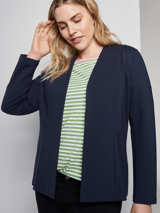 Schlichter Blazer im Loose-Fit - Frauen - Real Navy Blue - 5 - My True Me