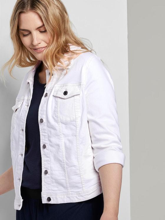 Farbige Jeansjacke - Frauen - White - 5 - My True Me