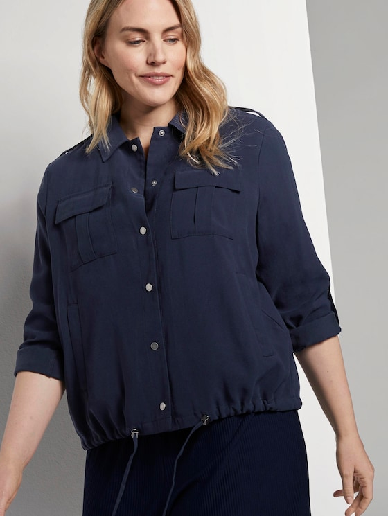 Jacke im Utility-Stil - Frauen - Real Navy Blue - 5 - My True Me
