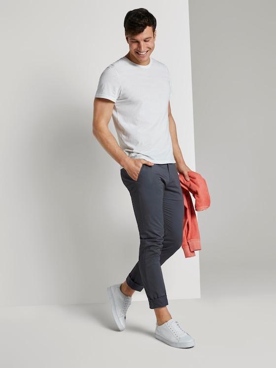 Chino Hose im Tech-Style - Männer - Blueish Grey - 3 - TOM TAILOR
