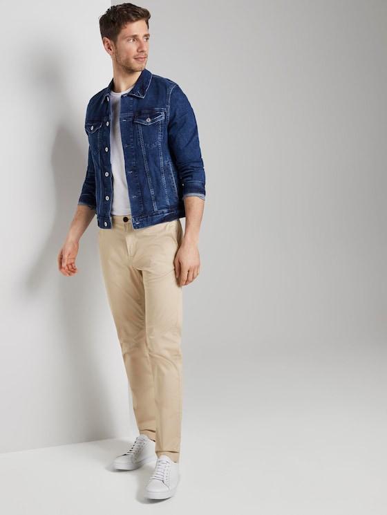 Chino Hose im Tech-Style - Männer - Cashew Beige - 3 - TOM TAILOR