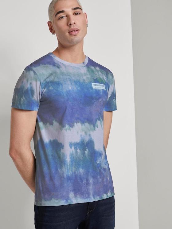 T-shirt in a batik look - Men - multicolor stripy batik print - 5 - TOM TAILOR Denim