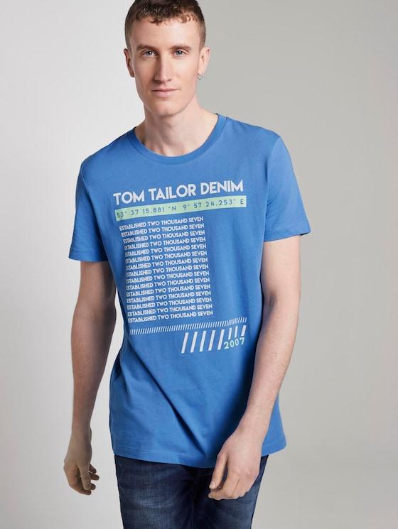 T-Shirt mit Print - Männer - water sport blue - 5 - TOM TAILOR Denim