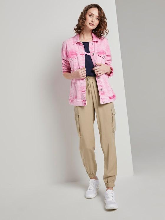 Nena & Larissa: Soft cargo trousers in a utility look - Women - dark beige - 3 - TOM TAILOR Denim
