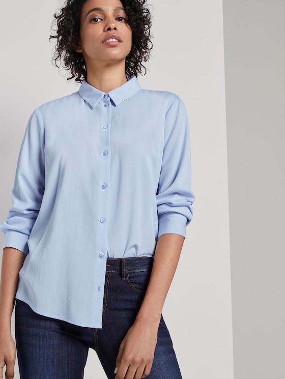 Schlichte Hemdbluse - Frauen - Soft Charming Blue - 5 - Mine to five