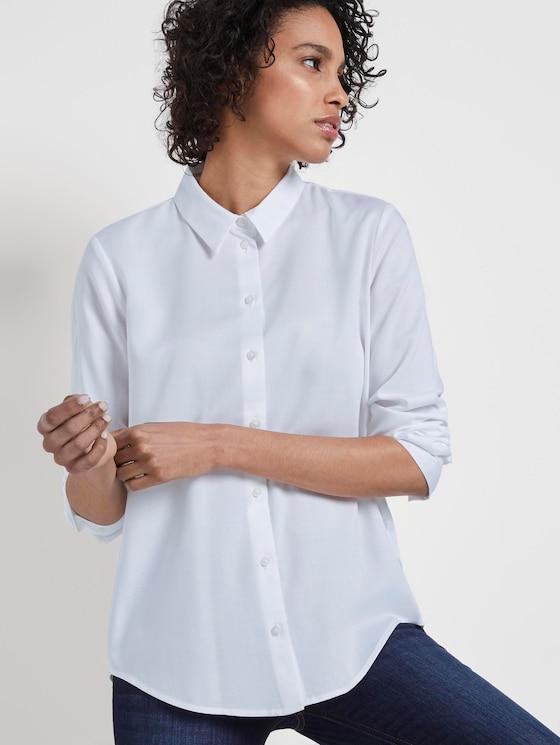 Schlichte Hemdbluse - Frauen - White - 5 - Mine to five