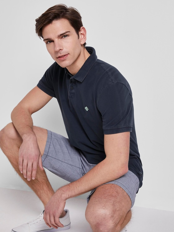 Poloshirt mit Print - Männer - Sky Captain Blue - 5 - TOM TAILOR Denim