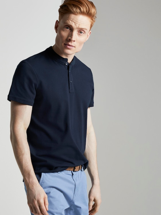 Henley T-Shirt - Männer - Sky Captain Blue - 5 - TOM TAILOR Denim