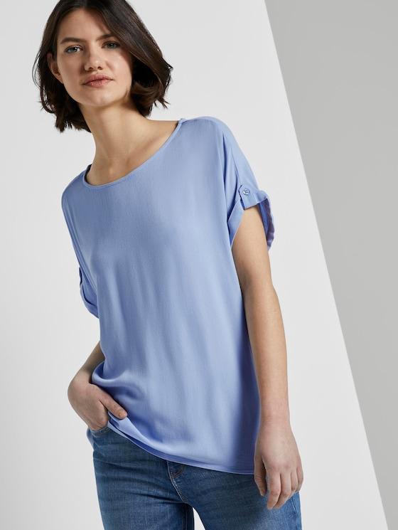 Blusenshirt mit Turn-Ups - Frauen - fresh light blue - 5 - TOM TAILOR Denim