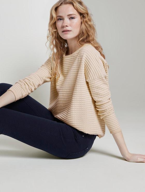 Gepunkteter Strickpullover - Frauen - soft vanilla - 5 - TOM TAILOR