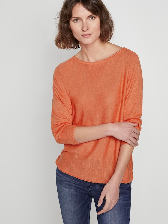 Simple sweater - Women - fruity melon orange - 5 - TOM TAILOR