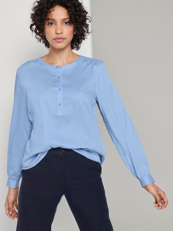Fließende Bluse - Frauen - Soft Charming Blue - 5 - Mine to five
