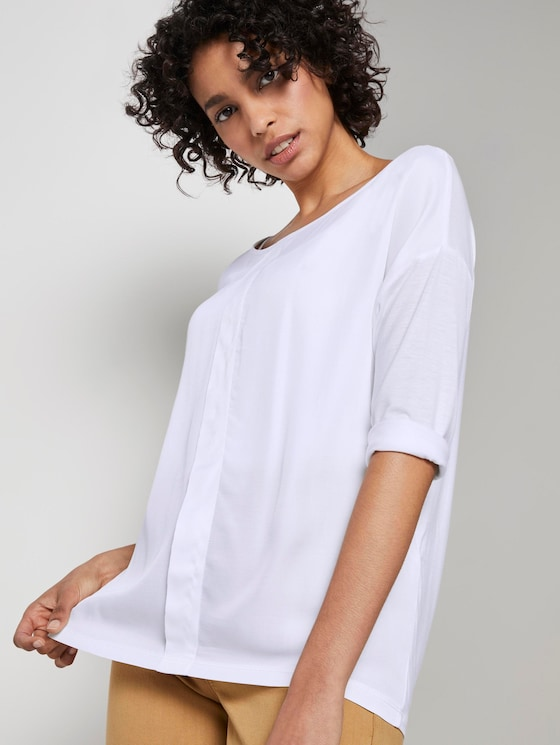 3/4 Arm Shirt mit Falte - Frauen - White - 5 - Mine to five