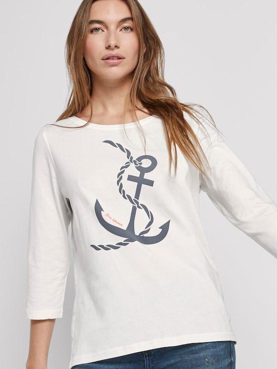 Maritimes Langarmshirt - Frauen - Whisper White - 5 - TOM TAILOR