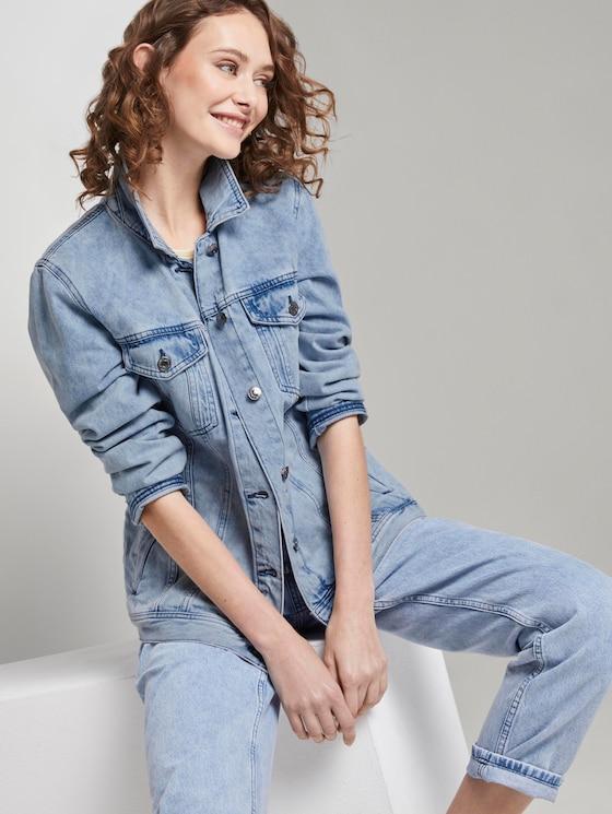 Jeansjacke im Pastell-Washed-Look - Frauen - random bleached  blue denim - 5 - TOM TAILOR Denim